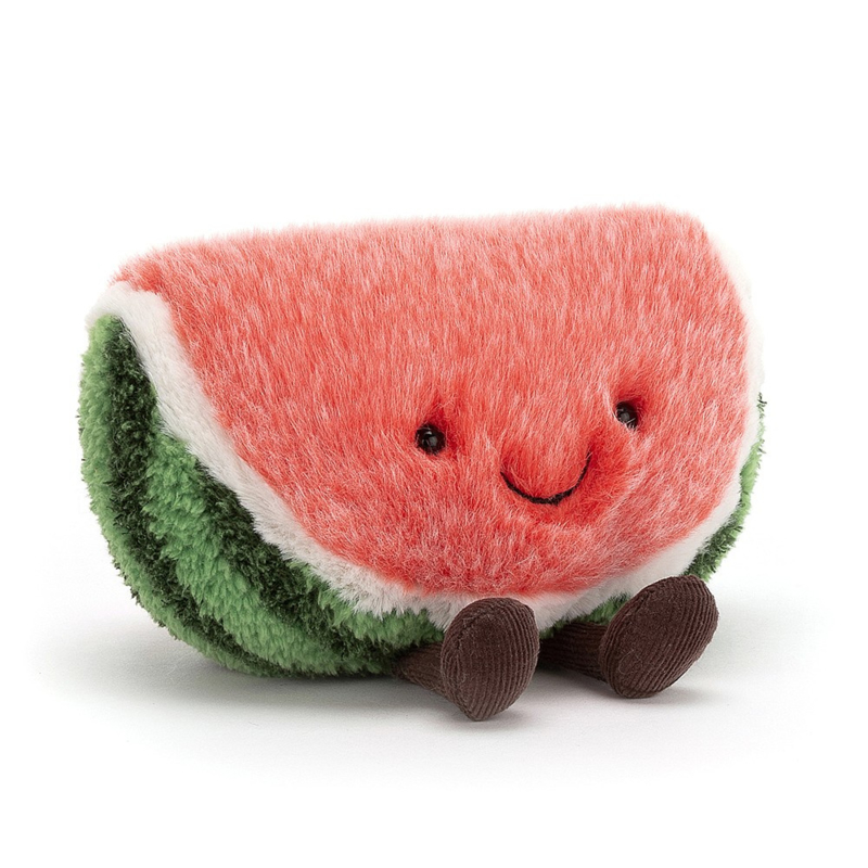 Jellycat Amuseable Watermelon Small - Knuffel Watermeloen (14 cm)