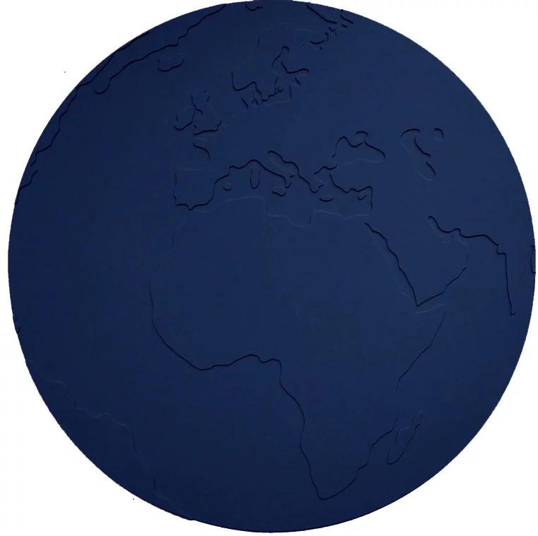 KG Design Placemat Atlas Wereldbol - Donker Blauw