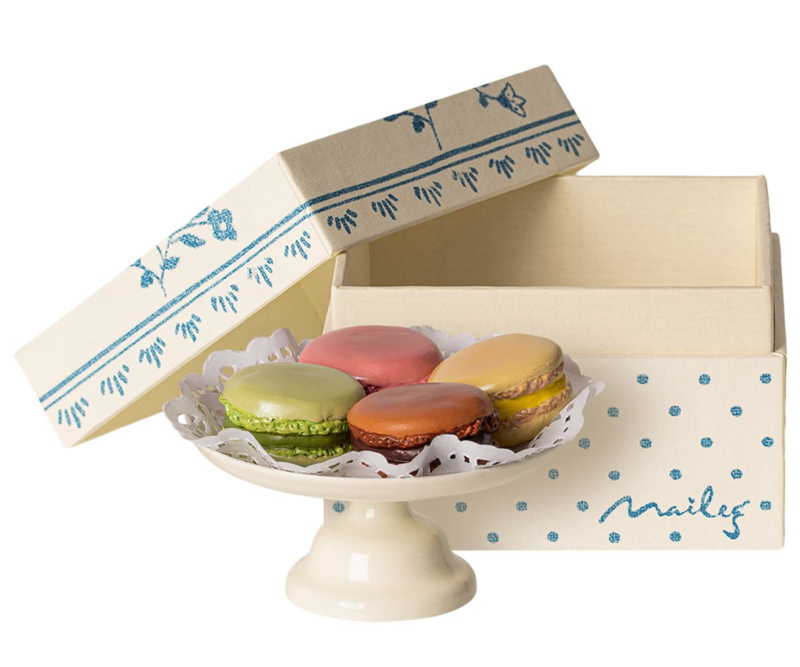 Maileg Macarons Set Poppenhuis - Macarons et Chocolate Chaud