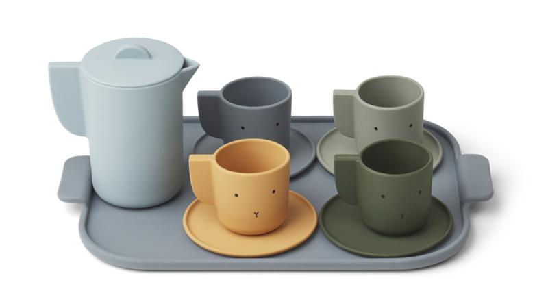 Liewood Ophelia Tea Set Siliconen Thee Servies - Blue Multi Mix