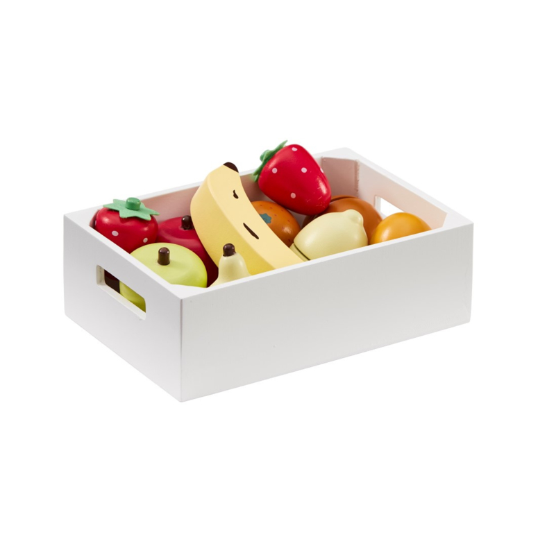 Kids Concept Houten Fruit Mix in Kratje