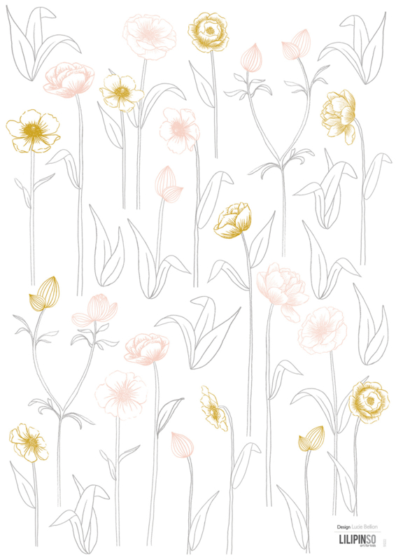 Lilipinso Botany Muursticker A3 - Little Flowers (S1222)