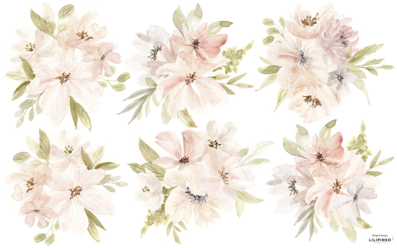 Lilipinso Appoline Muursticker XL - PomPoms Bouquets