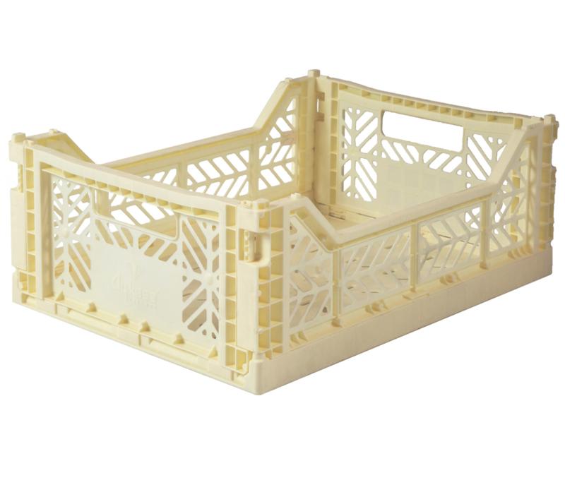 AyKasa Folding Crate Midi Box - Banana