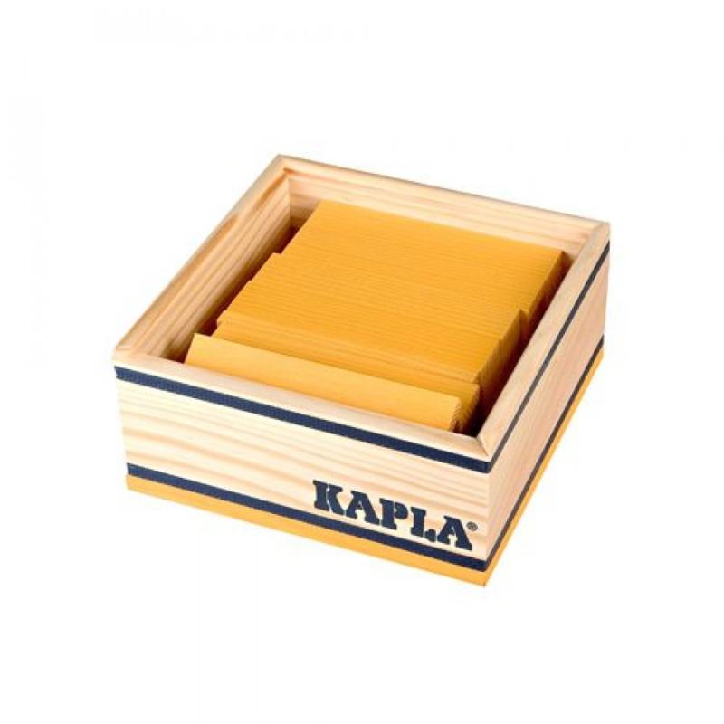 KAPLA Kist 40 Bouwplankjes - Geel