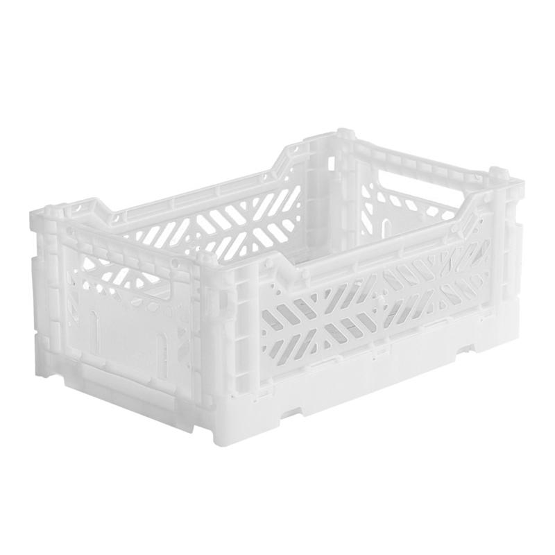 AyKasa Folding Crate Mini Box - White