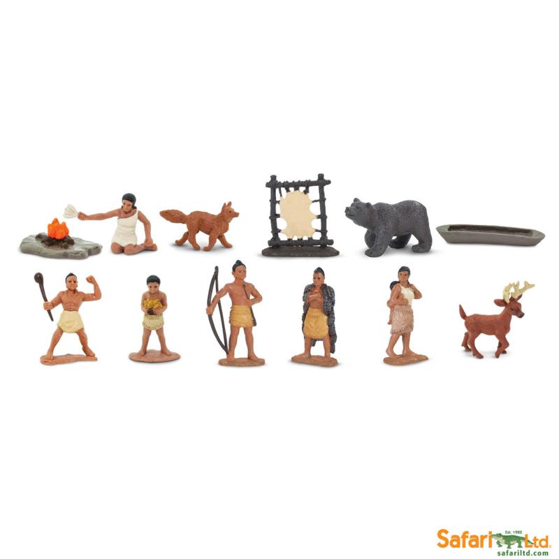 Safari Speelfiguren Toob Set - Indianen