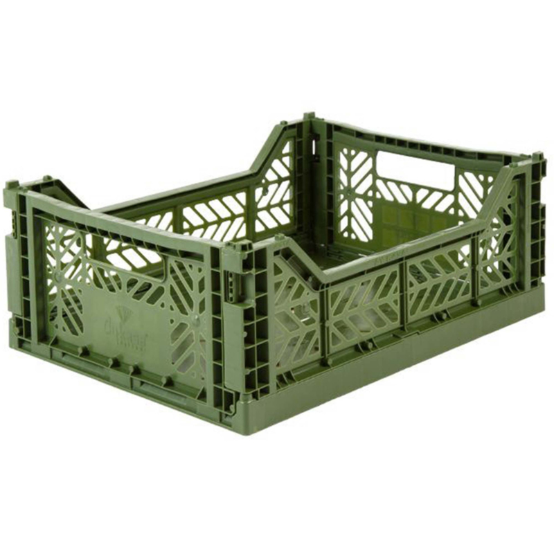 AyKasa Folding Crate Midi Box - Khaki