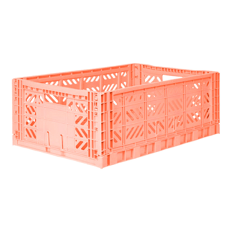 AyKasa Folding Crate Maxi Box - Salmon