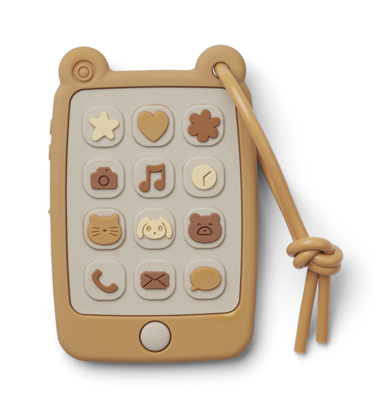 Liewood Thomas Mobile Phone Siliconen Telefoon - Yellow Mellow