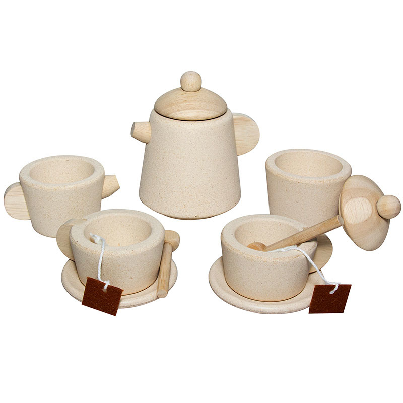 Plantoys Houten Thee Set - Naturel
