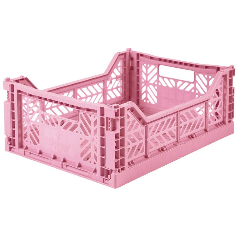 AyKasa Folding Crate Midi Box - Pink