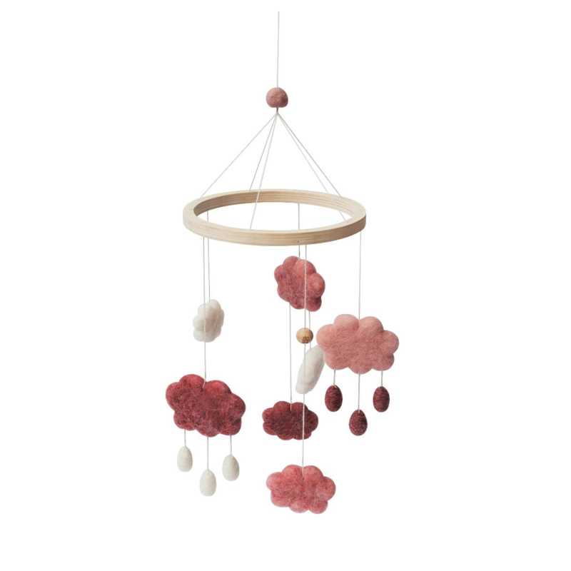 Sebra Babymobiel Wolken - Candy Pink Roze