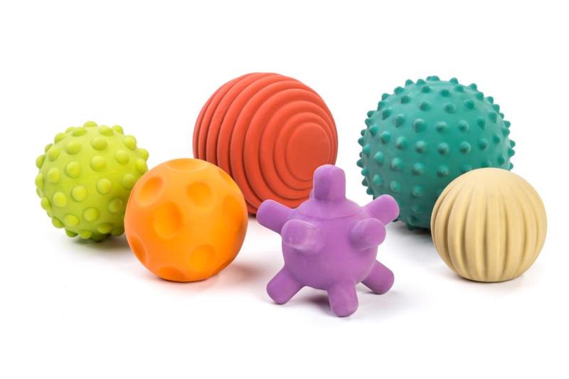 Miniland Sensorische Rubberen Ballen + 0jaar