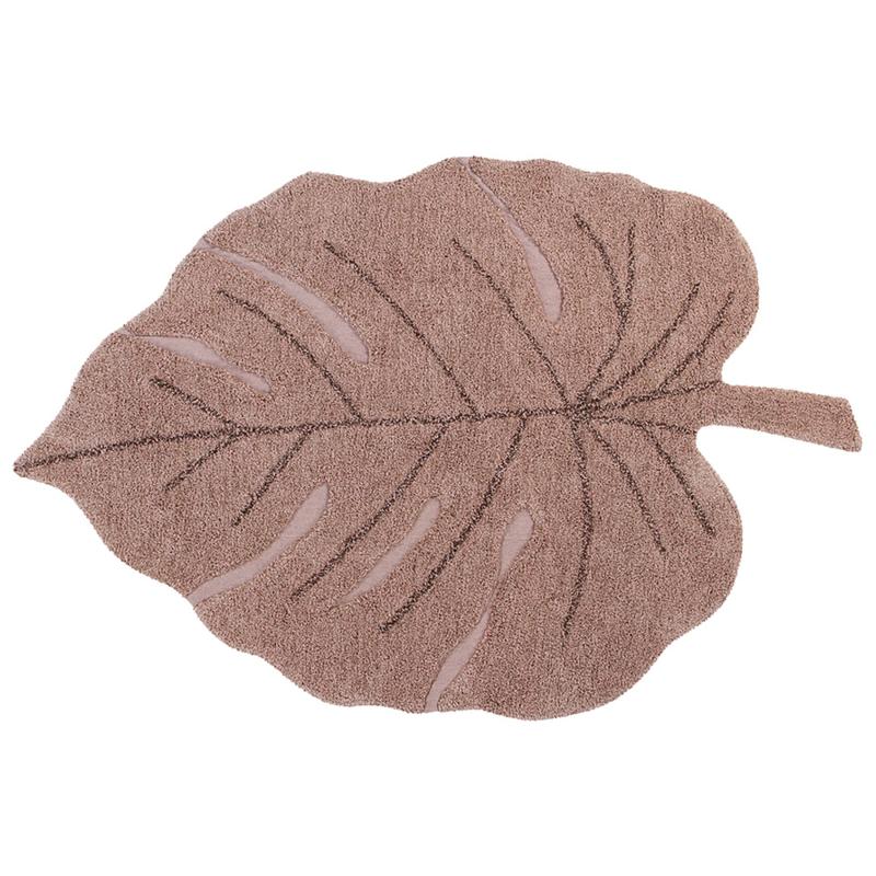 Lorena Canals Vloerkleed - Monstera Leaf Vintage Nude