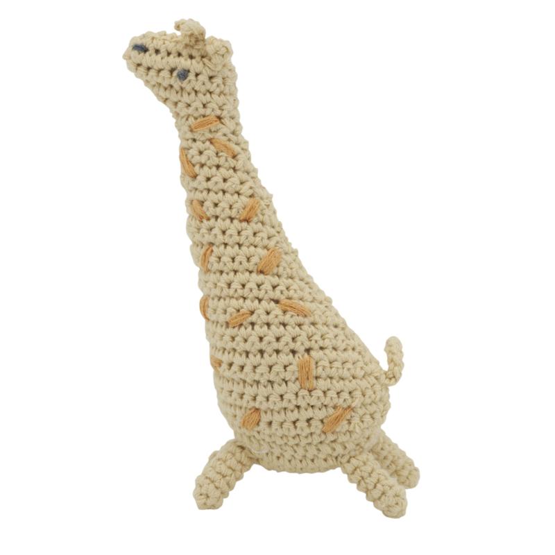 Sebra Crochet Rattle Rammelaar - Glenn the Giraffe (op=op)