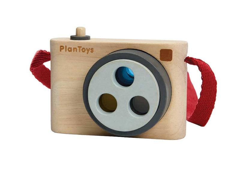 Plantoys Houten Camera met Kleurenlens