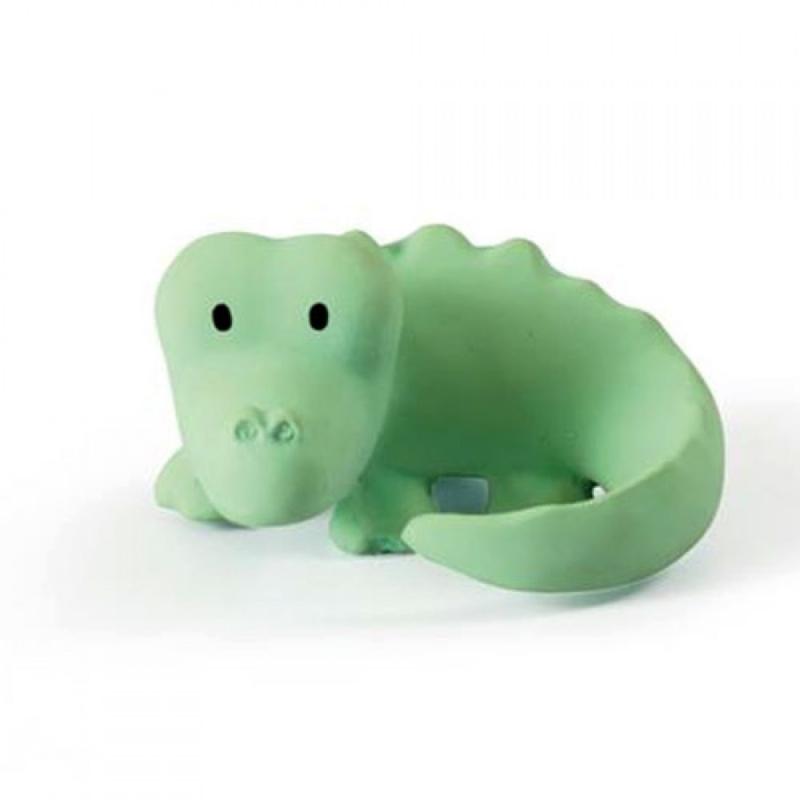Tikiri Bijt- en Badspeelgoed met Rammelaar - Krokodil