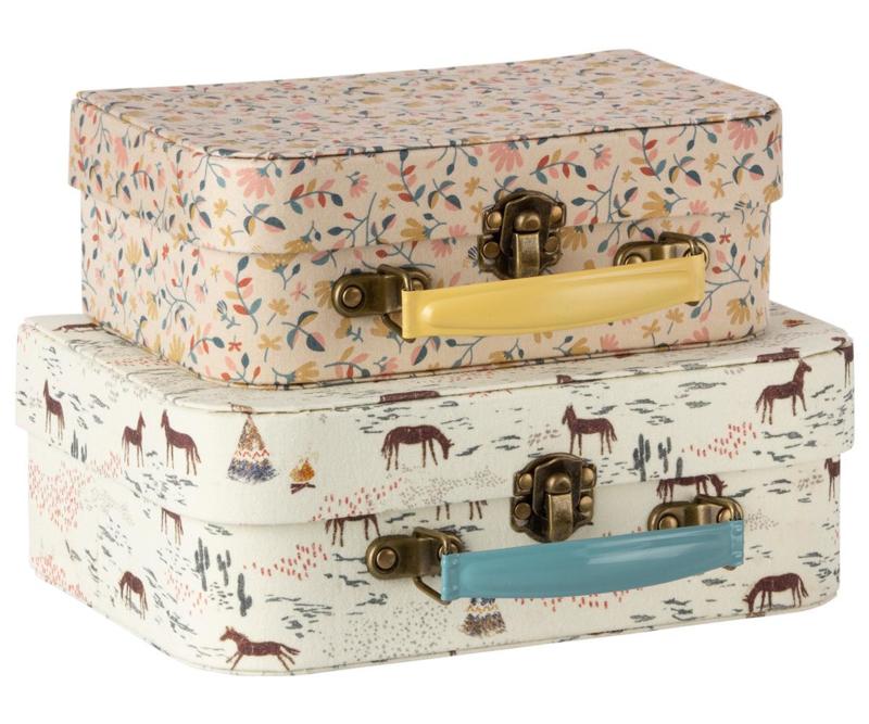 Maileg Koffertjes Suitcase with Fabric (set van 2)