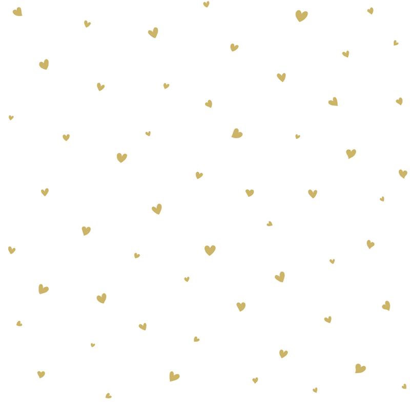 Lilipinso Coquette Behang - Hartjes Goud