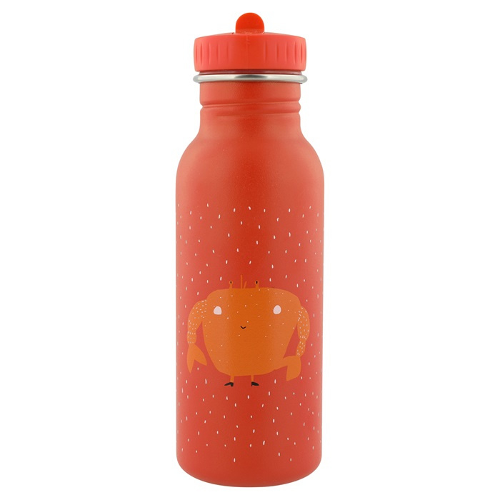 Trixie Drinkfles RVS Mrs. Crab - Rood (500 ml) (op=op)