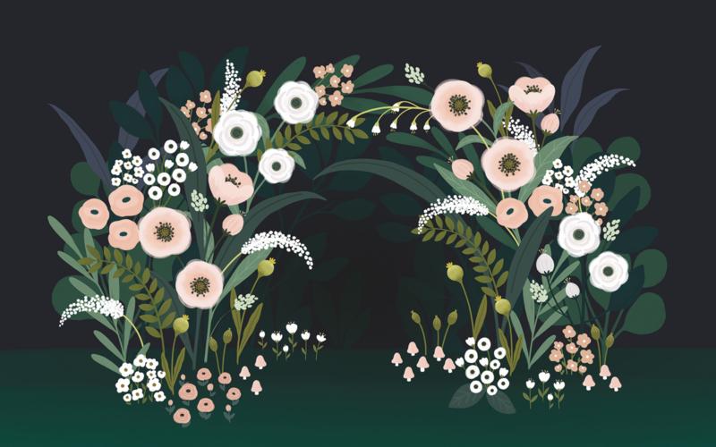 Lilipinso Wonderland Behang - Big Blossom Arch