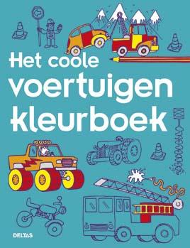Uitgeverij Deltas Het coole voertuigen Kleurboek
