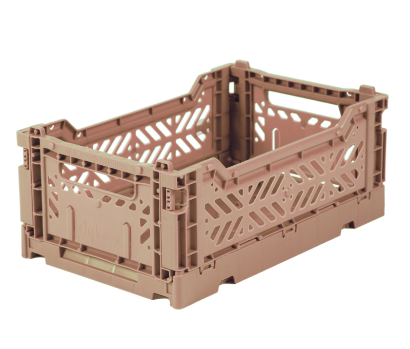 AyKasa Folding Crate Mini Box - Warm Taupe