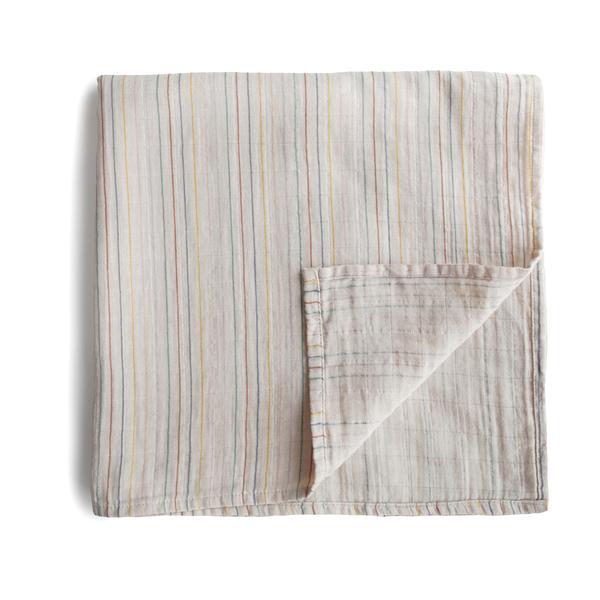 Mushie Hydrofiele Doek XL Swaddle - Retro Stripes