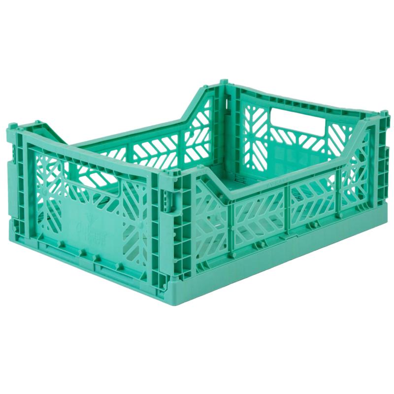 AyKasa Folding Crate Midi Box - Mint