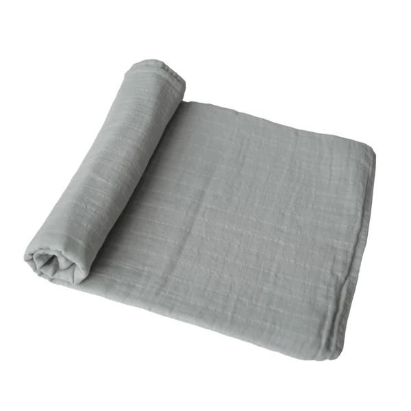 Mushie Hydrofiele Doek XL Swaddle - Belgium Grey
