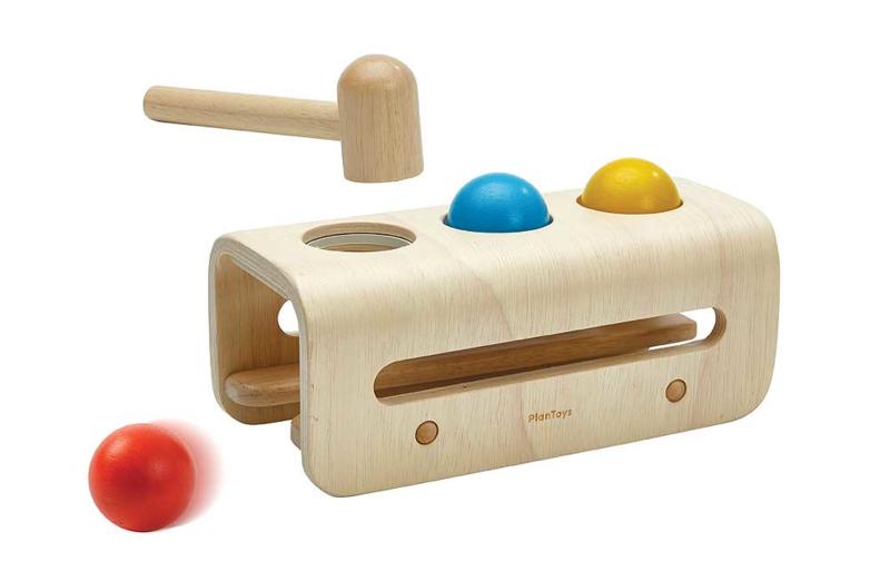 Plantoys Houten Hamerbank - Hammer Balls