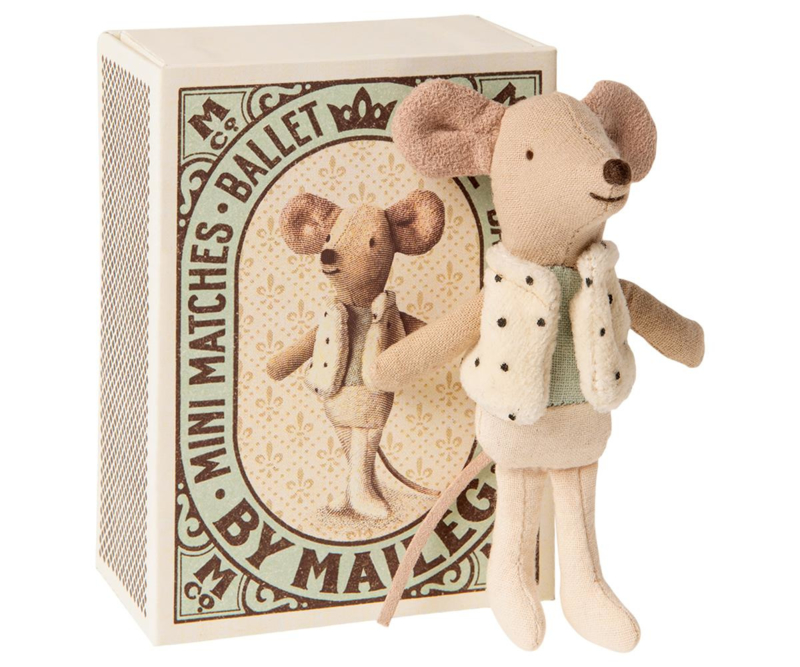 Maileg Dancer Little Brother Mouse in Matchbox (10 cm)