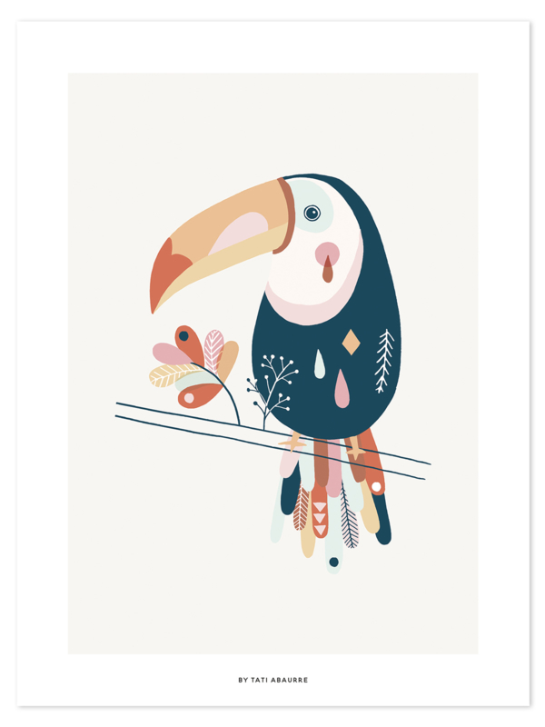Lilipinso Paradisio Poster - Pastel Toucan (30x40cm)