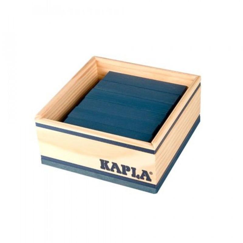 KAPLA Kist 40 Bouwplankjes - Donker Blauw