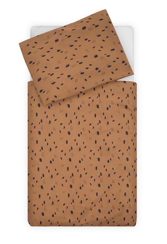 Jollein Ledikant Dekbedovertrek Set Spot - Caramel (100 x 140 cm)