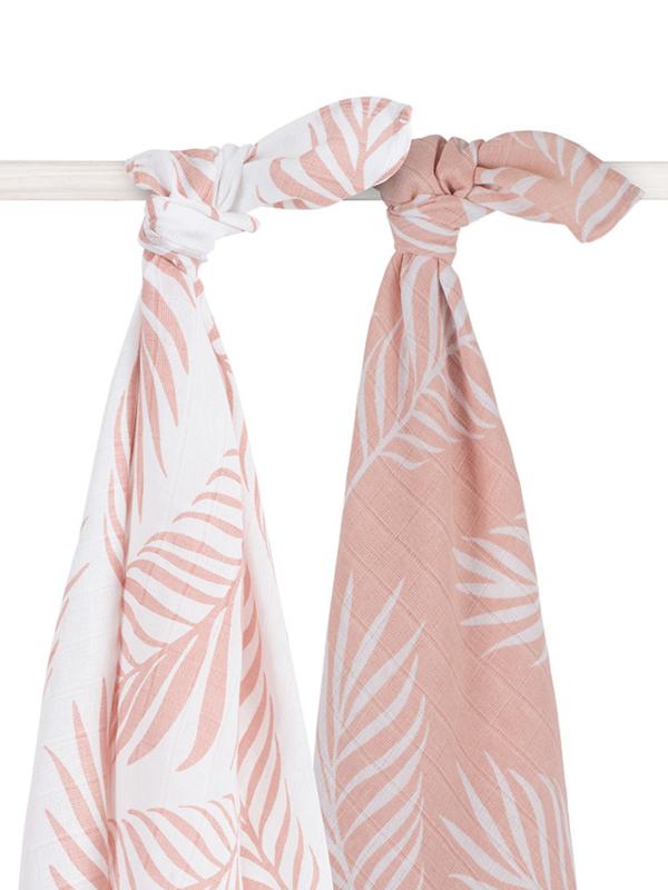 Jollein Hydrofiele Doek XL Nature - Pale Pink (set van 2)
