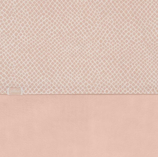 Jollein Wieg Laken Snake - Pale Pink (75 x 100 cm)