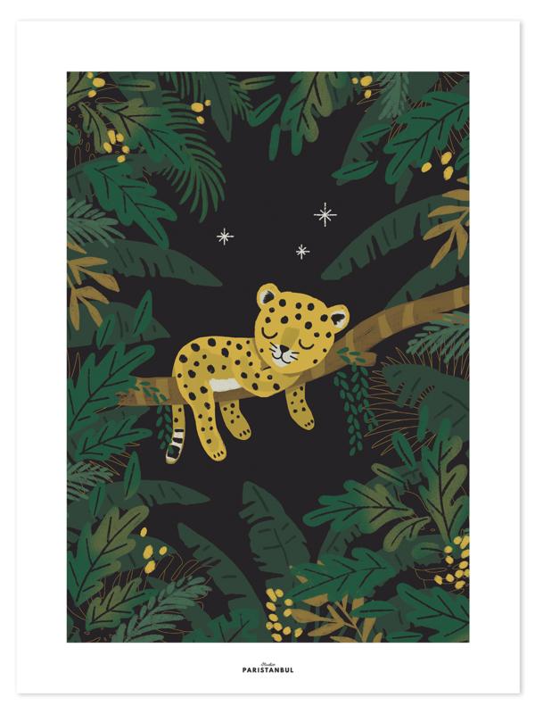 Lilipinso Jungle Night Poster - Sleepy Little Cheetah (30x40cm)