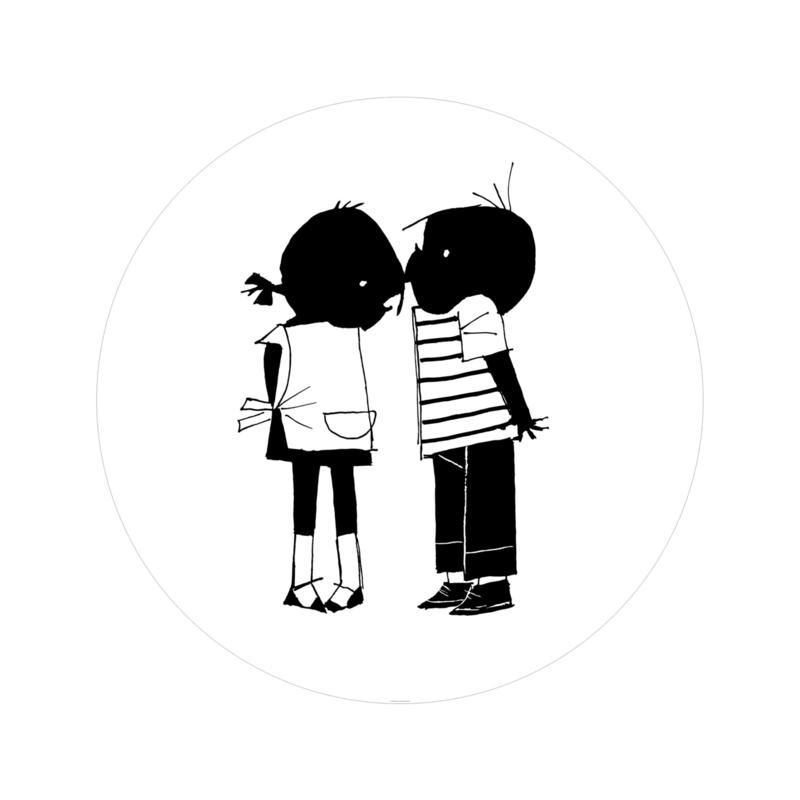 Kek Amsterdam Jip en Janneke Behangcirkel - Kiss (Ø 142,5 cm)
