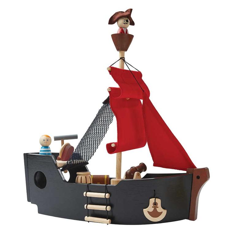 Plantoys Houten Piratenboot (6114)