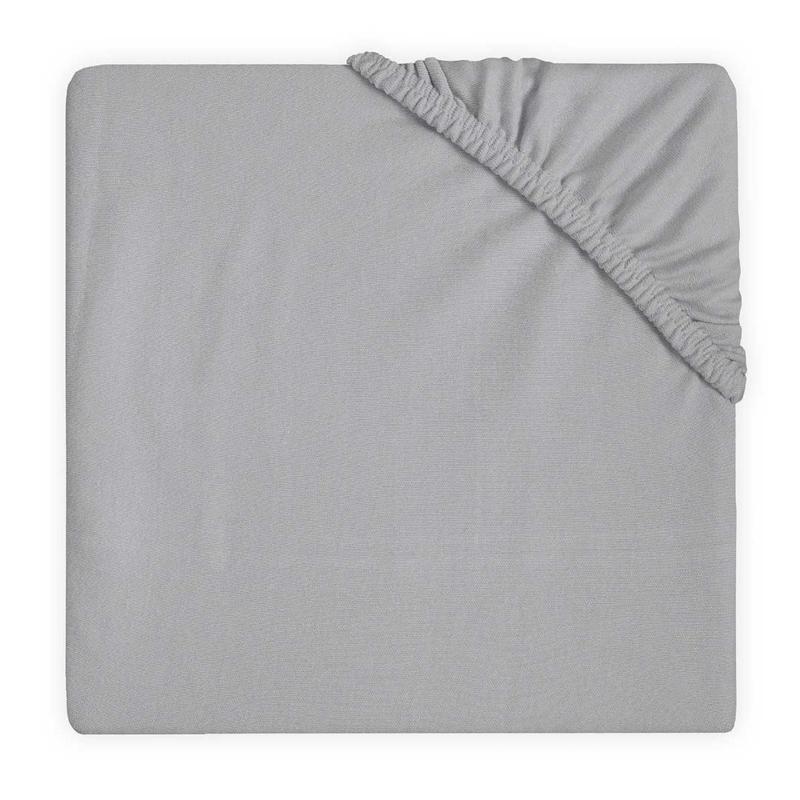 Jollein Hoeslaken Ledikant Double Jersey - Soft Grey (60 x 120 cm)