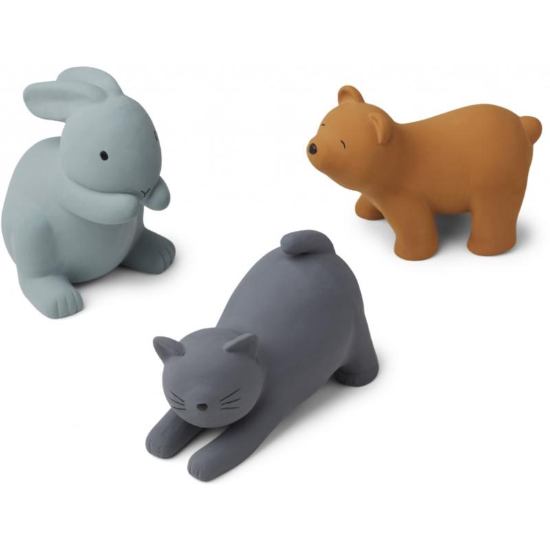 Liewood David Bath Toys Badspeeltjes - Blue Multi Mix (3 stuks)