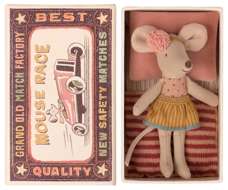 Maileg Little Sister Mouse in Box (10 cm) (2021)