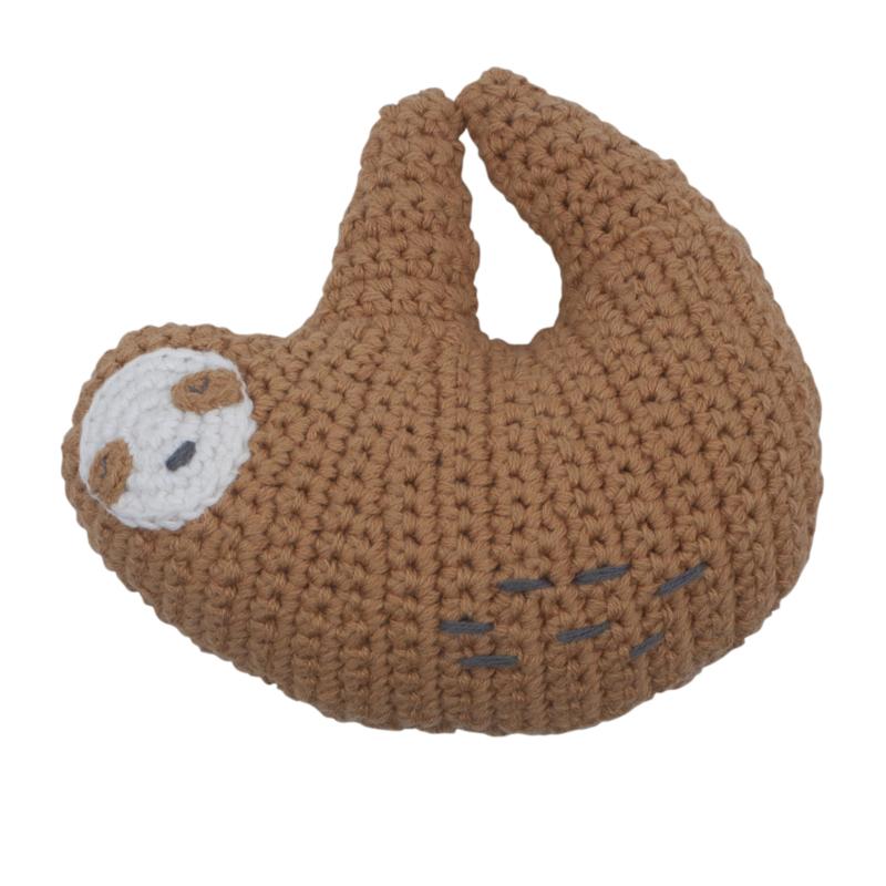 Sebra Crochet Rattle Rammelaar - Lacey the Sloth