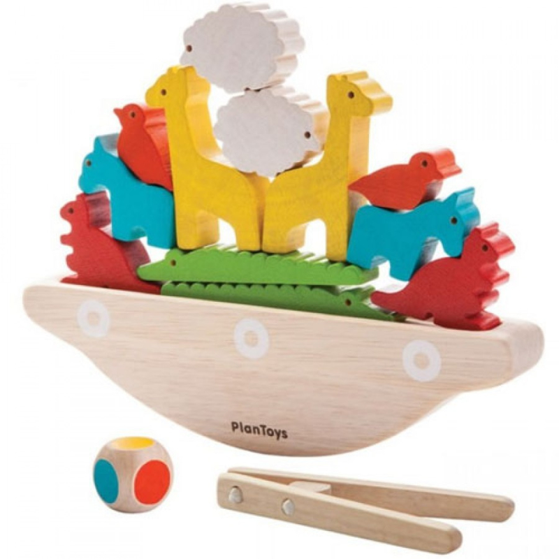 Plantoys Houten Puzzel - Stapelspel Balanceer Boot