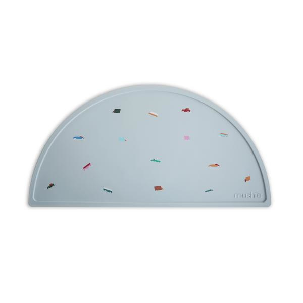 Mushie Placemat Silicone Place Mat - Retro Cars