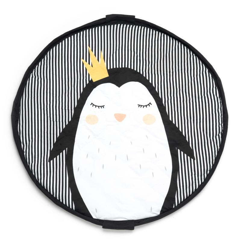 Play and Go Soft Speelgoedkleed en Opbergzak - Pinguin