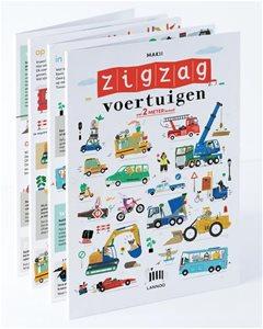 Uitgeverij Lannoo ZigZag - Voertuigen (2 meter breed!) +3jr