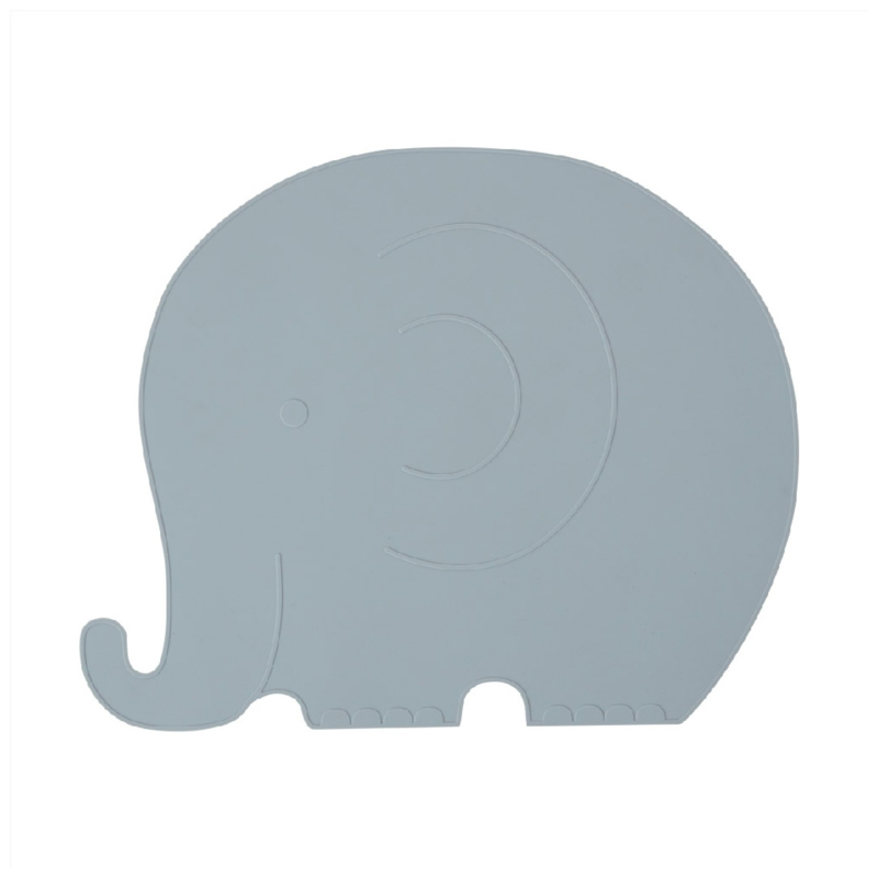 OYOY Placemat Henry Elephant Olifant - Pale Blue